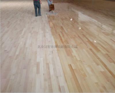 ps如何填充木地板_体育木地板施工中油漆及表面处理流程是怎样的?-北京冠星